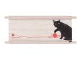 ミニ天軸タペストリー「黒猫と毛糸」