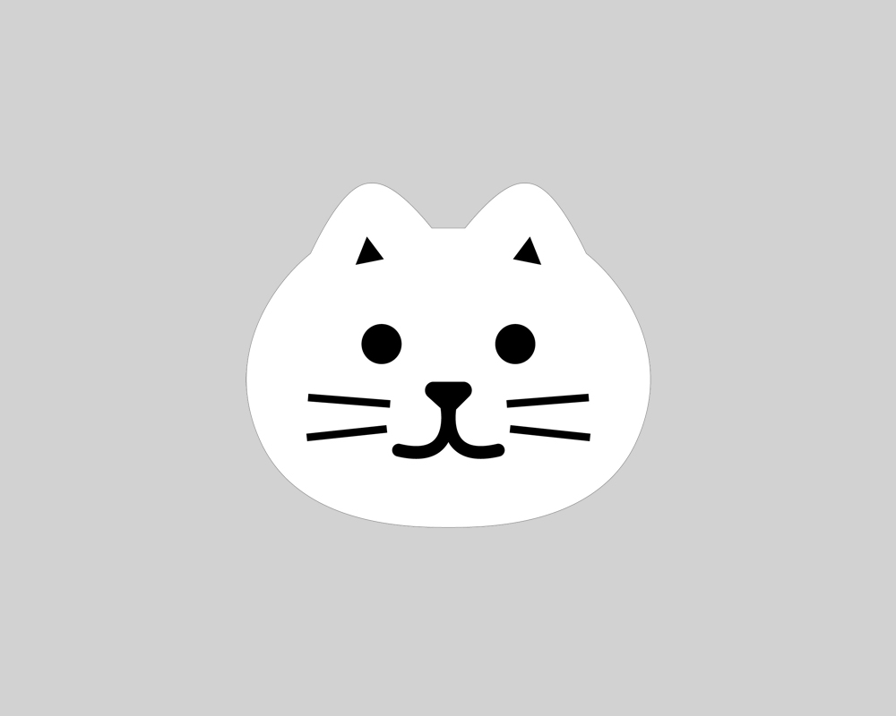 ネコ型マイクロファイバー・バックルガード 【メール便対応】