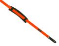 アクリル&コットン混 25ミリ幅レトロスタイルストラップ/オレンジ