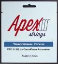 【特価】Apexストリングス TraditionalCRYOS Acoustic String  PTC1152