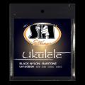 SITストリングス ブラックナイロン バリトン・ウクレレ弦 UK120B-BK