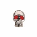 Q-Parts Jumbo Skull II Bloodshot Knob Chrome