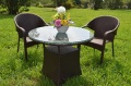 ガーデンファニチャー ラタン調 テーブル チェア 3点セット set361【送料無料】