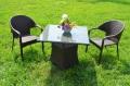ガーデンファニチャー ラタン調 テーブル チェア 3点セット set362【送料無料】