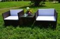 ガーデンファニチャー ラタン調 サイドテーブル ソファ 3点セット set365【送料無料】