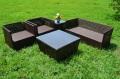 ガーデンファニチャー ラタン調 テーブル サイドテーブル ソファ  5点セット set368【送料無料】