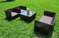 ガーデンファニチャー ラタン調 テーブル ソファ 4点セット set369【送料無料】