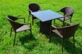 ガーデンファニチャー ラタン調 テーブル チェア 5点セットset 372【送料無料】