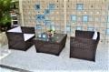 ガーデンファニチャー ラタン調 テーブル ソファ 3点セット set373【送料無料】