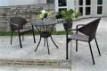 ガーデンファニチャー ラタン調 テーブル チェア 3点セット set375【送料無料】