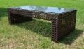 ガーデンファニチャー ラタン調 長方形テーブル ロータイプ【送料無料】