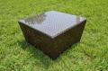 ガーデンファニチャー ラタン調 四角テーブル 80cm ロータイプ【送料無料】