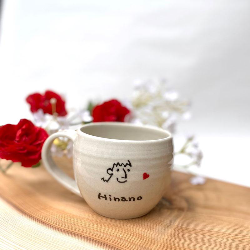 fujico ふんいき にがおえマグカップ 「オーダー陶器」
