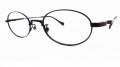 【オリジナル老眼鏡】 ADVANCE(アドバンス) No.4691  ブラック オーバル型のメタルフレーム ブルーライトカットレンズ仕様  【送料無料】
