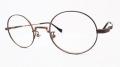 【オリジナル老眼鏡】 ADVANCE(アドバンス) No.4692  ダークブラウン ラウンド型のメタルフレーム ブルーライトカットレンズ仕様  【送料無料】