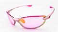 【超軽量】 わずか17gのサングラス AXE(アックス) AS-350  ピンク/ピンク×ピンクミラー 女性向けモデル (スペアレンズ付き)
