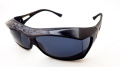 AXE(アックス) SG-605PCS マーブルシルバー/ダークスモーク メガネを掛けたまま装着可能なオーバーサングラス