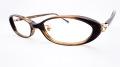 【オリジナル老眼鏡】 VISAGE (ビサージュ) VIF-40031  ブラウン 51□15-135 ブルーライトカットレンズ仕様  【送料無料】