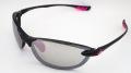 【超軽量】 わずか17gのサングラス 『アックス AS-350 PBK』 ピンクのラバーテンプルの女性向けモデル(スペアレンズ付き)