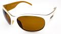【SUN CLOUD】サンクラウド偏光サングラス 『CAROUSEL(カルーセル)』 フレームカラー:ホワイト レンズカラー:ブラウン テンプルのデザインが印象的なサングラス