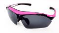 【ellesse】エレッセ ES-S105 ピンク×ブラック 小顔の方や女性にピッタリのサイズ 交換可能な5枚のレンズ付きサングラス インナーフレーム付属で度付き対応