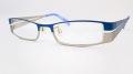 当店オリジナル老眼鏡 『K-SWISS』 メタルフレームにレンズを組み込みました。 『K-SWISS KSF8002』 フレームカラーはブルー/マットシルバー