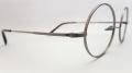 【オリジナル老眼鏡】 クラシカルで伝統的な丸型メガネフレーム【KENT】 ケント KT2008 アンティークシルバー ブルーライトカットレンズ仕様 【送料無料】