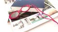 メガネ型のペンダントルーペ LP02 レッド 倍率1.5倍