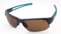 【PUMA】 プーマ PU15182 ブルーのラインが印象的なスポーツグラス フレームカラー:ブラック レンズカラー:ブラウン