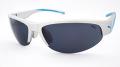 【PUMA】 プーマ PU15183 清涼感あるシルバーのボディにブルーのラインが美しいなスポーツグラス フレームカラー:シルバー レンズカラー:ダークグレー