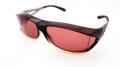 AXE(アックス) SG-604P GBR(グラデーションブラウン)/ROSE(ローズ) メガネを掛けたまま装着可能なオーバーサングラス
