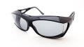 AXE(アックス) SG-605P シャイニーブラック/スモーク メガネを掛けたまま装着可能なオーバーサングラス