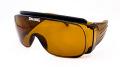 【SPALDING】 スポルディング SPO-103 カラー:ブラウン メガネの上から掛けられるオーバーサングラス