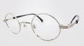 【オリジナル老眼鏡】 生粋(きっすい) TK-703 カラー:シルバー 丸型のクラシカルで個性的なメガネフレーム ブルーライトカットレンズ仕様  【送料無料】