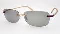 【老眼鏡付き偏光サングラス】 トップビューバイフォーカル TP-20 シルキーゴールド/偏光ライトグレー 【視界良好、足元安心設計】