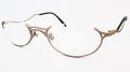 当店オリジナル老眼鏡 『ZEAL(ジール)』 のナイロールタイプメタルフレームにレンズを組み込みました。 カラーはマットゴールドとマットシルバーの2色