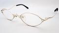 当店オリジナル老眼鏡 『ZEAL(ジール)』 のフルリムタイプメタルフレームにレンズを組み込みました。 フレームカラーはマットシルバー