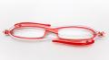 イタリア生まれの超コンパクト折りたたみ老眼鏡 『zic(ジック)』 G065-01 レッド