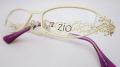 【オリジナル老眼鏡】 zio flora6 (ジオ フローラ6) クリーム 花柄を切り絵のように纏った楽しく華やかなメガネ【送料無料】