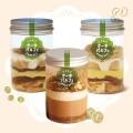 [3種set ケーキパルフェ] 白花豆のモンブラン&キャラメルモカ&クルミとチョコレートムース