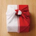 《お祝 紅白ふろしき》  特製焼チーズケーキ 【木箱入】