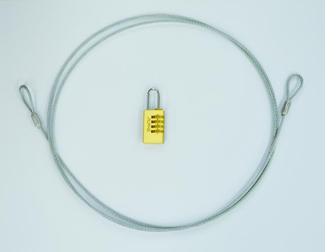 ステンレスワイヤー&真鍮ダイヤル錠セット(宅配ボックス「あずかっと庫」オプション品)