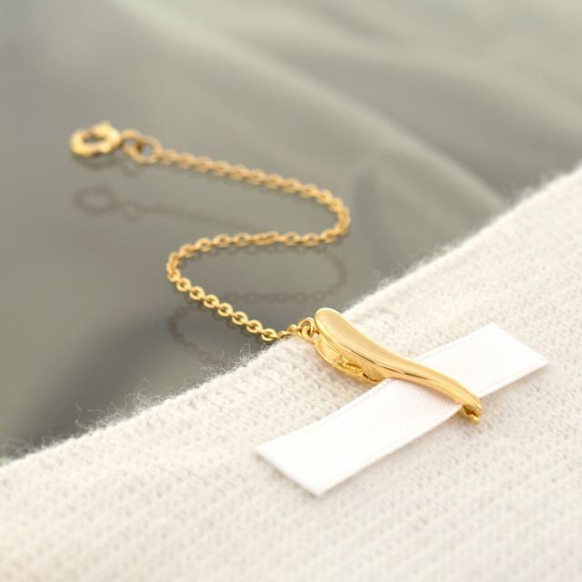 【ネックレスのお悩み解決♪】チェーンの回転を防止する便利な金具…jewelead/ジュエリード【アズキチェーン】 シルバー925(K18イエローゴールドコーティング)[8739600103]