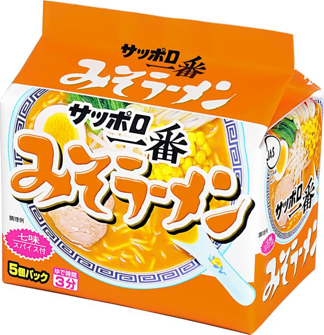 サッポロ一番 みそラーメン (5個パック×6入り)