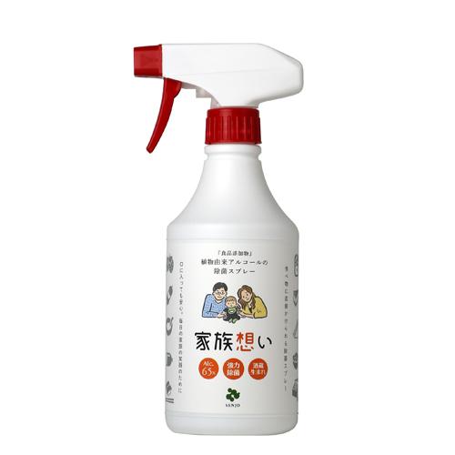仙醸 家族想い 500ml スプレーノズル付 |食品添加物 植物由来アルコールの除菌スプレー