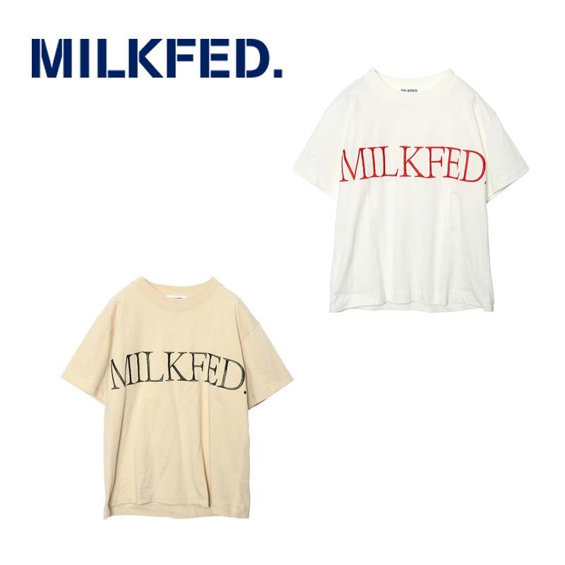 MILKFED ミルクフェド  EMBROIDERY LOGO TEE 03182101 刺繍ロゴ半袖Tシャツ  レディース 【正規販売店】
