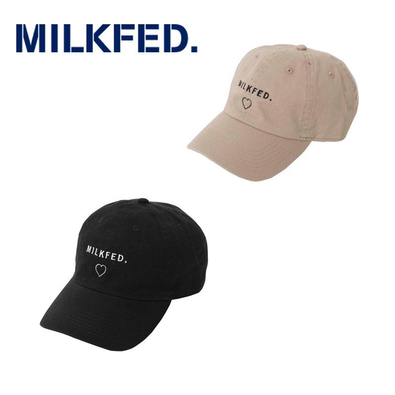 MILKFED. ミルクフェド  LINE HEART 6PANEL CAP 03183093 ラインハート6パネルキャップ レディース サイズ調節可能 正規販売店