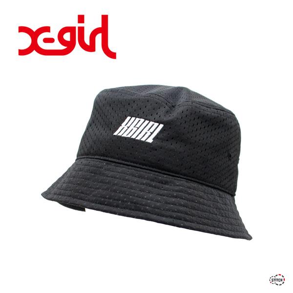 X-girl エックスガール MESH BUCKET HAT 05191025 メッシュバケットハット レディース 送料無料  XGIRL正規販売店