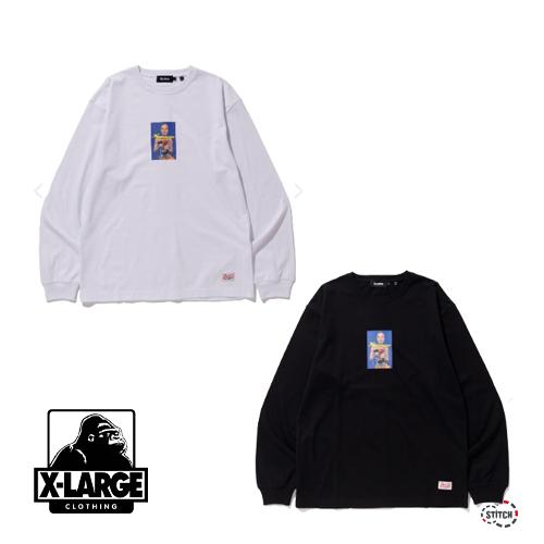 セール XLARGE エクストララージ L/S TEE ELECTRIC DRILL 101204011005 グラフィック 長袖Tシャツ メンズ 正規取扱店 SALE