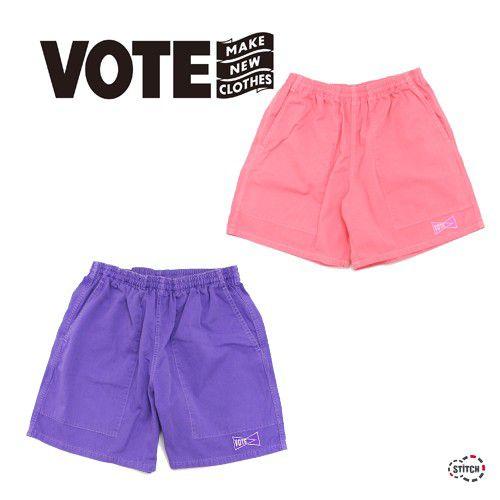 送料無料 VOTE MAKE NEW CLOTHES ヴォート メイク ニュークローズ NEON SHORTS 19SS-0027 ショートパンツ ハーフパンツ メンズ 正規販売店